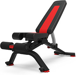 The black and red Bowflex 5.1s Stowable Bench on a white background